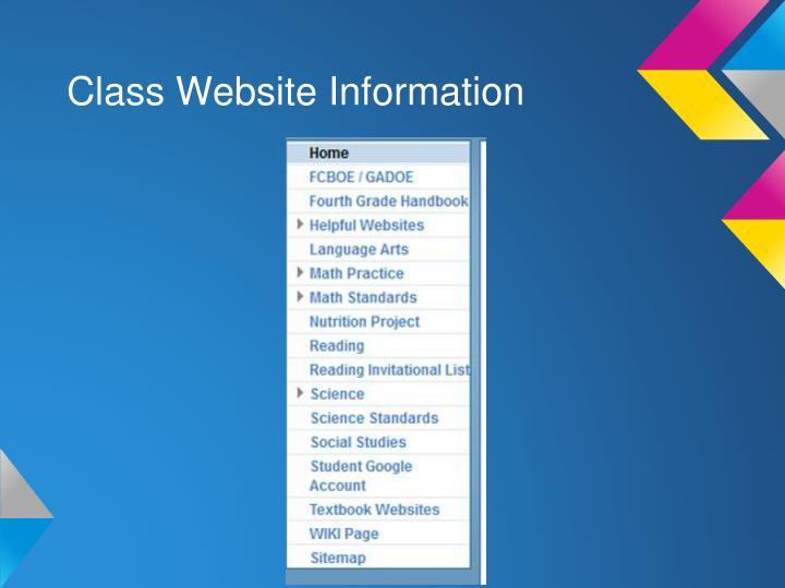 Class Website Information