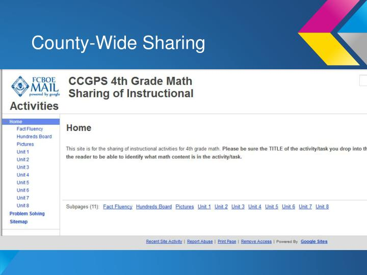 County-Wide Sharing