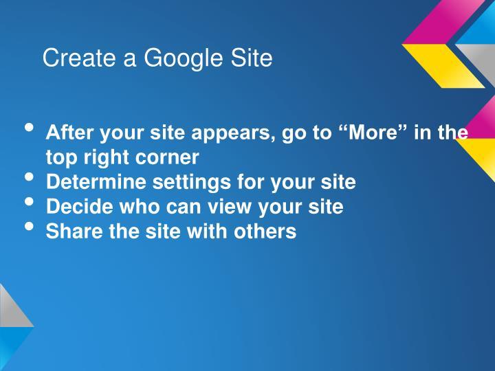Create a Google Site