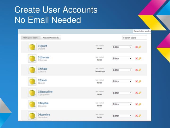 Create User Accounts