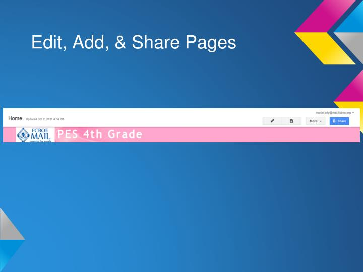 Edit, Add, & Share Pages