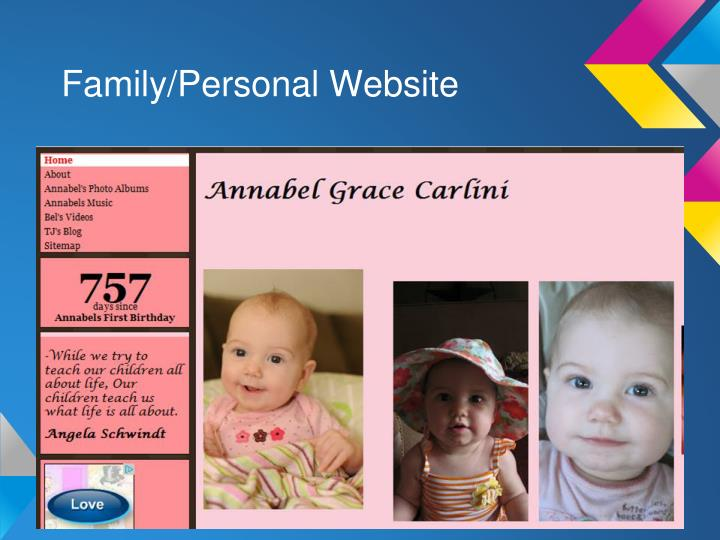 Family/Personal Website