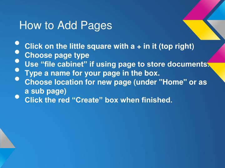 How to Add Pages