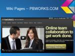 wiki pages pbworks com
