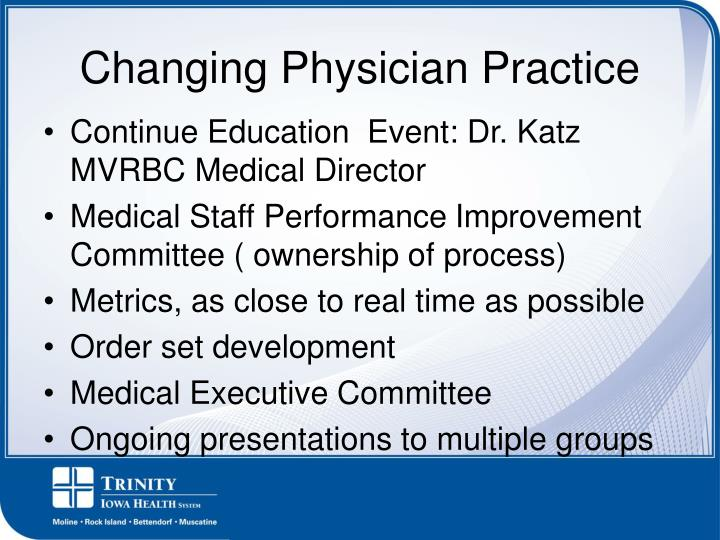 Changing Physician Practice
