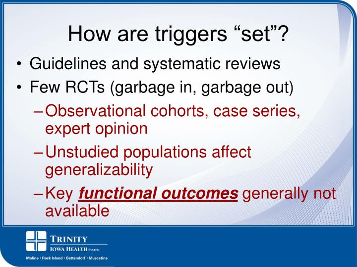 Guidelines and systematic reviews