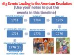 18 3 events leading to the american revolution