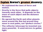 explain newton s greatest discovery