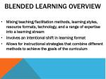 blended learning overview
