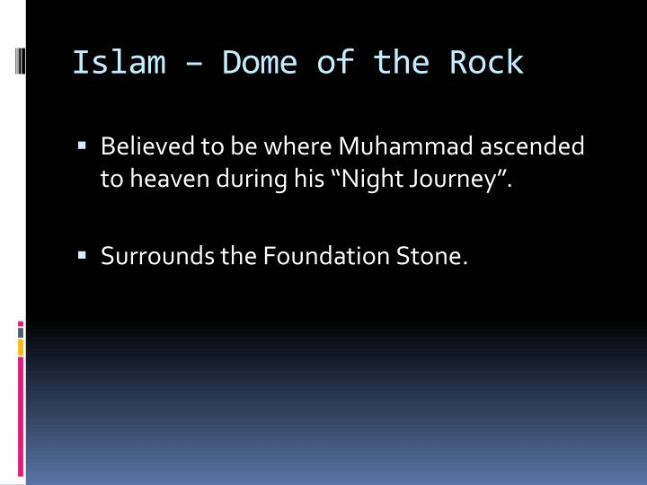 Islam – Dome of the Rock