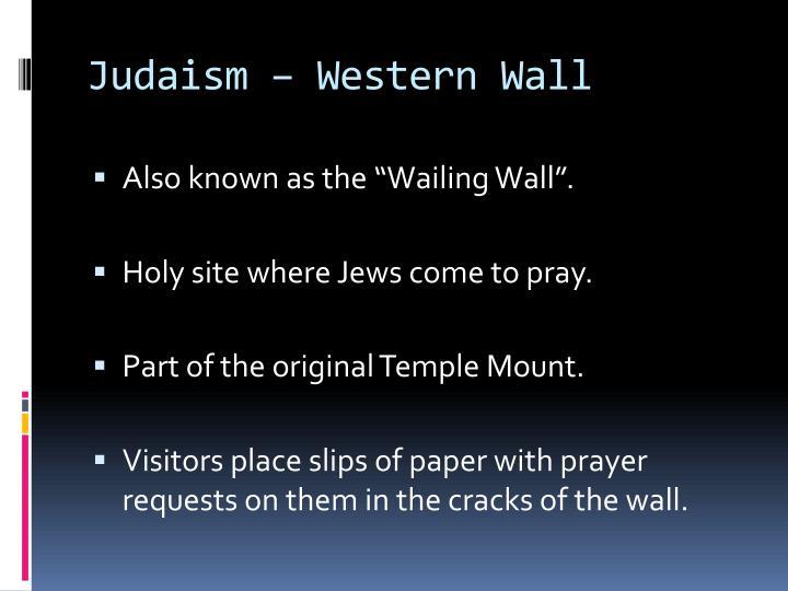 Judaism – Western Wall