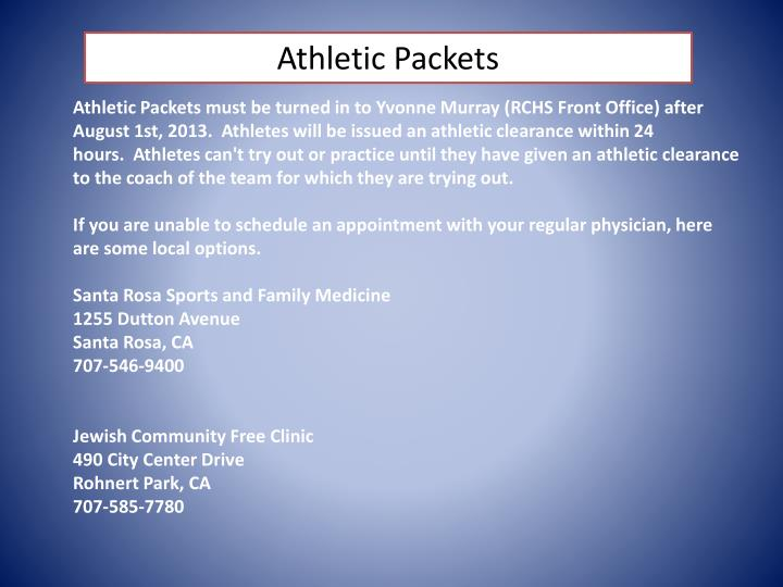 Athletic Packets