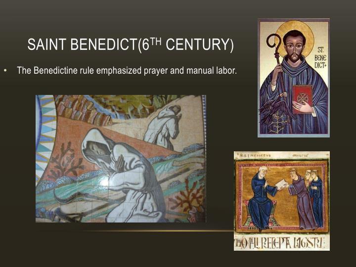 Saint Benedict(6