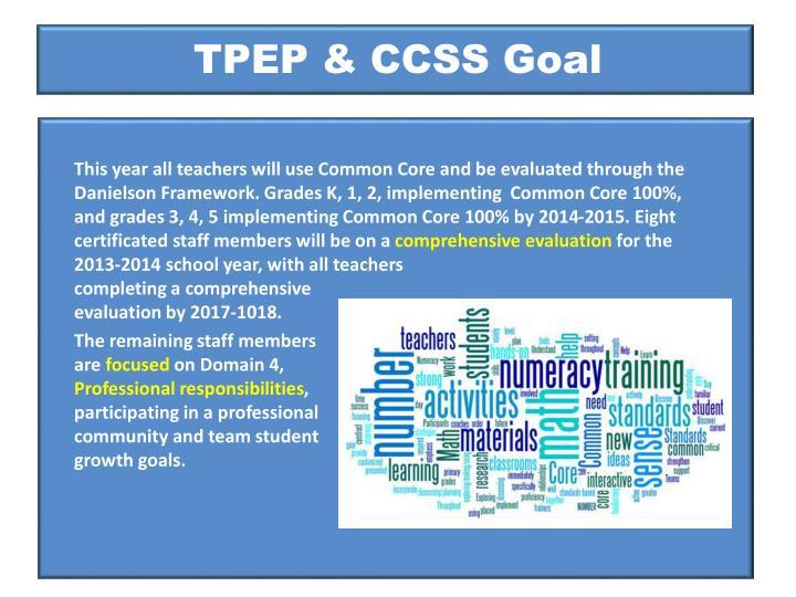 TPEP & CCSS Goal