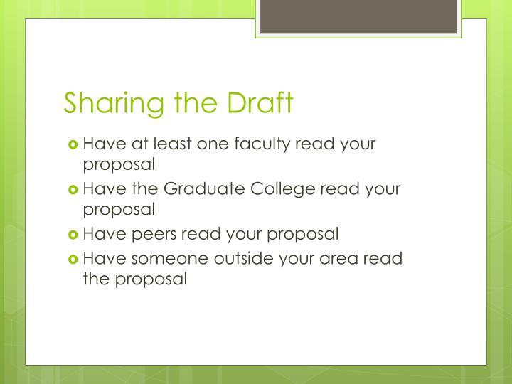 Sharing the Draft