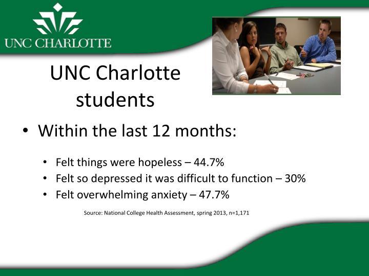 UNC Charlotte students