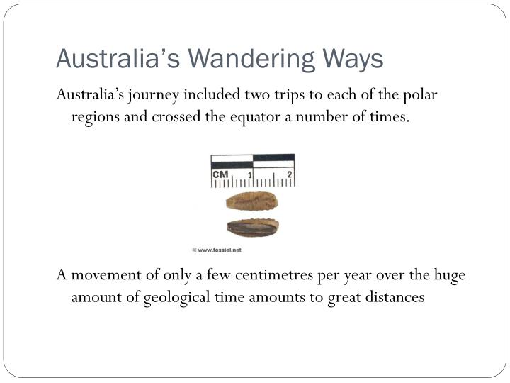 Australia's Wandering Ways