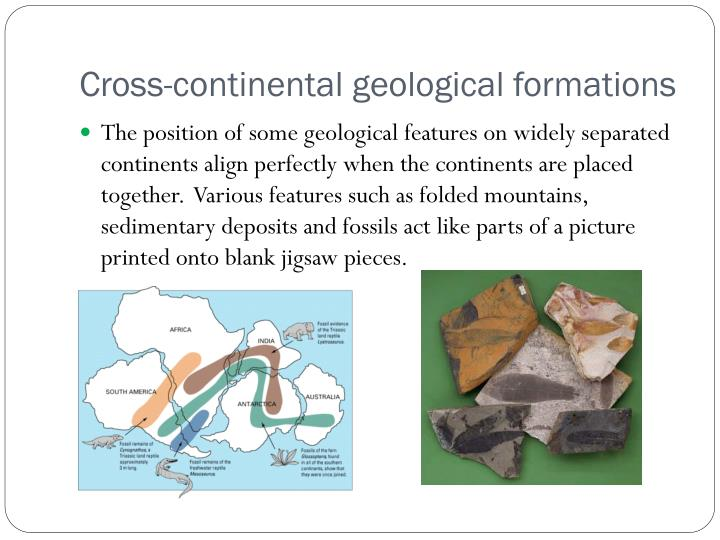 Cross-continental geological formations