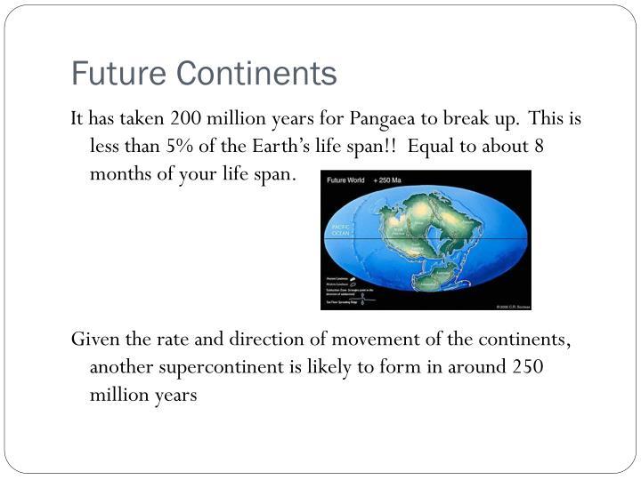 Future Continents