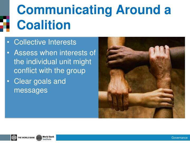 Communicating Around a Coalition