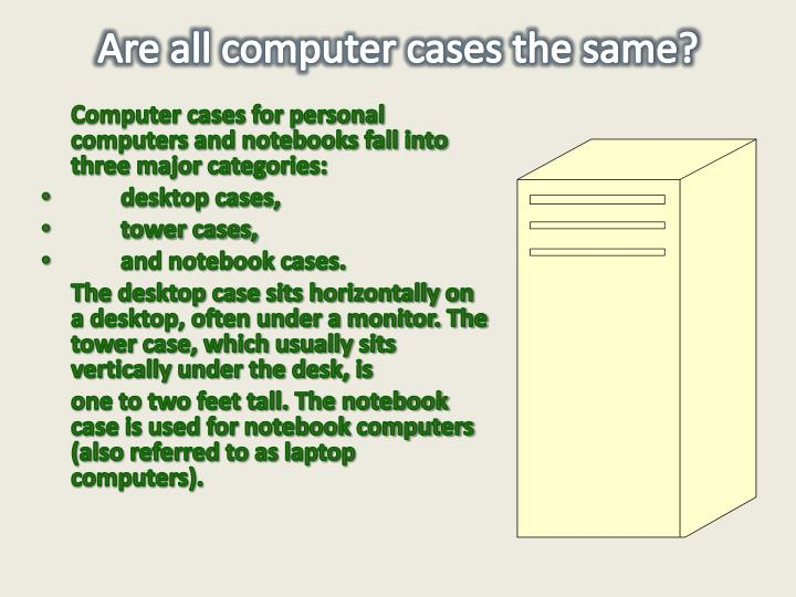 Are all computer cases the same?