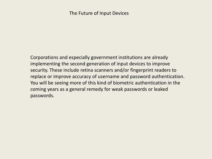 The Future of Input