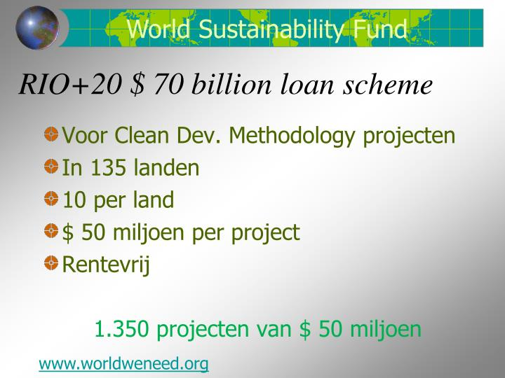 Rio 20 70 billion loan scheme
