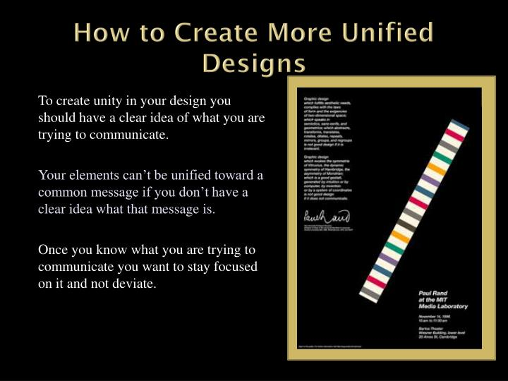 How to Create More Unified Designs