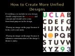 how to create more unified designs1