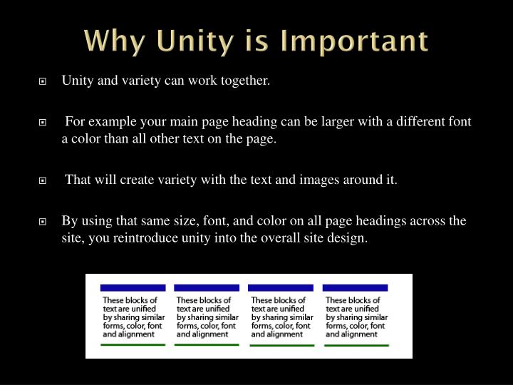Why Unity is Important