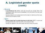 a legislated gender quota cont
