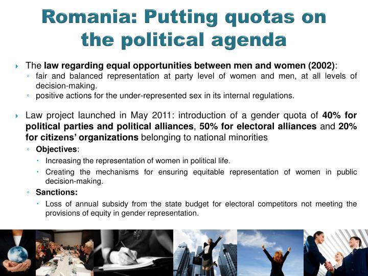 Romania: Putting quotas on the political agenda