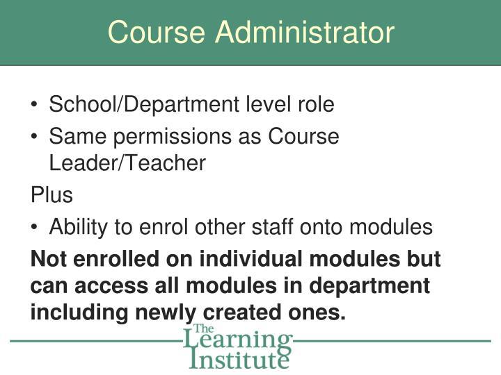 Course Administrator