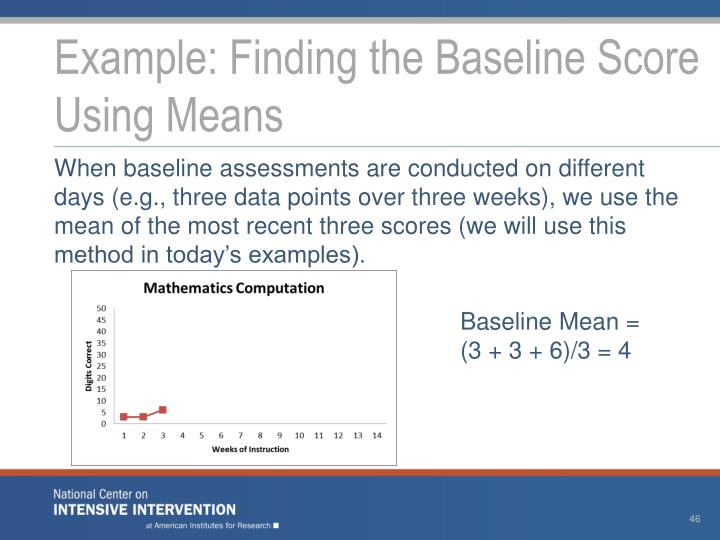 Example: Finding the Baseline Score Using Means