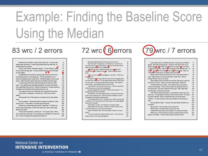 Example: Finding the Baseline Score Using the