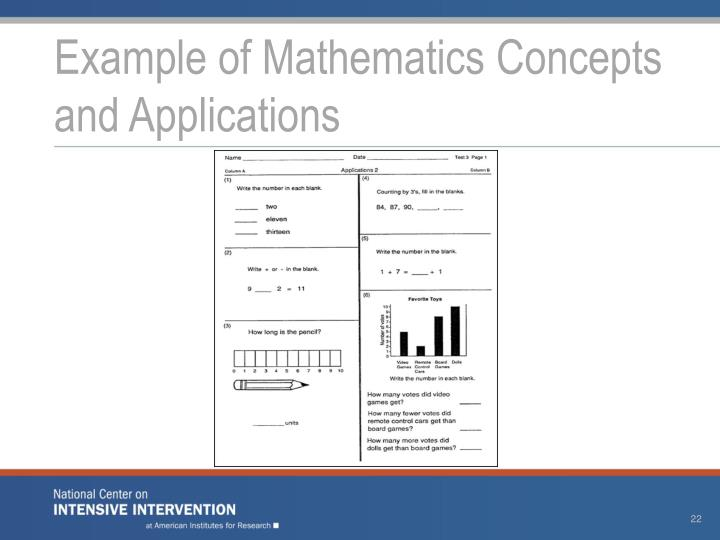Example of Mathematics Concepts and Applications