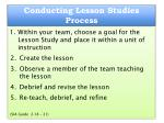 conducting lesson studies process