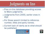 judgments on line