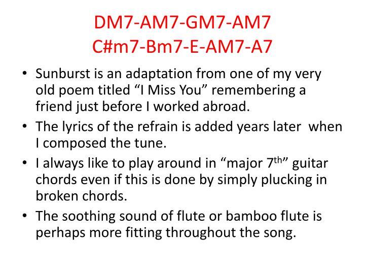 DM7-AM7-GM7-AM7
