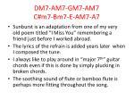 dm7 am7 gm7 am7 c m7 bm7 e am7 a7