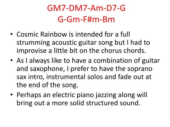 GM7-DM7-Am-D7-G