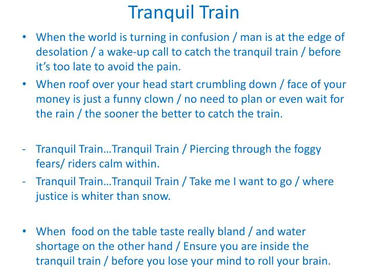 Tranquil Train