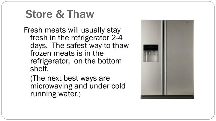 Store & Thaw