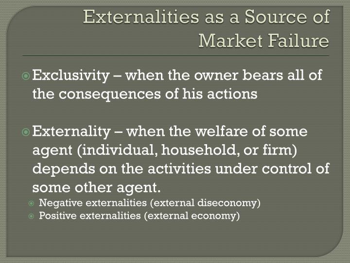Externalities as a Source of Market Failure