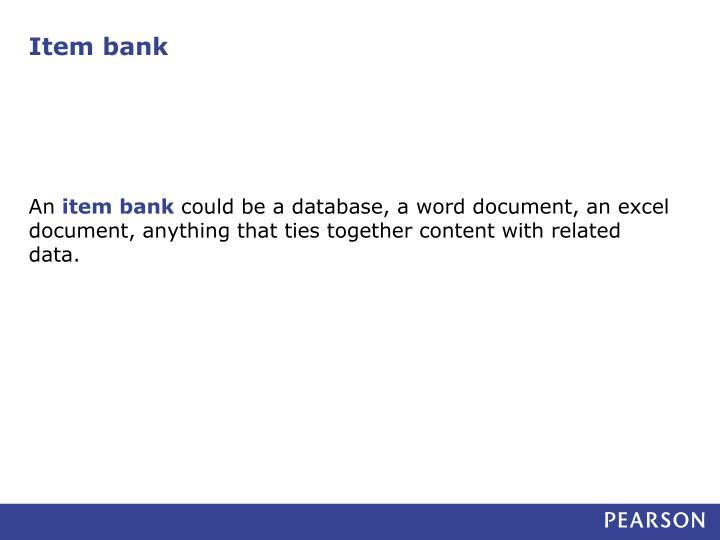 Item bank