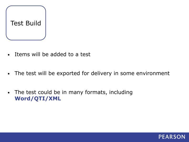 Test Build
