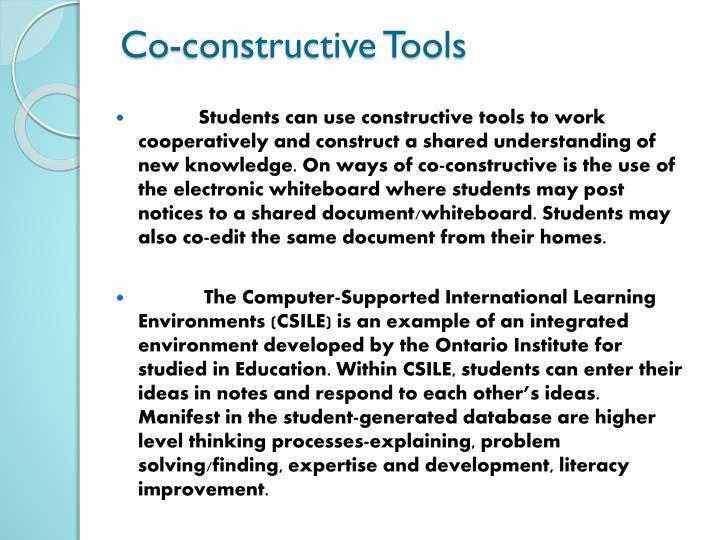 Co-constructive Tools
