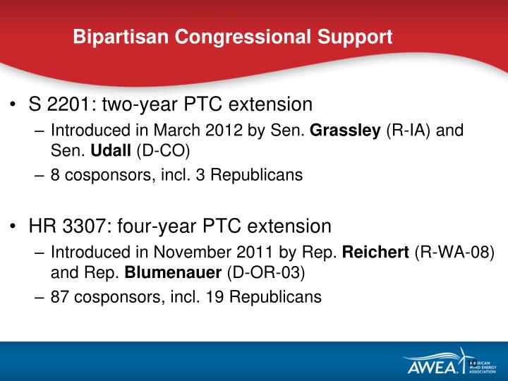 Bipartisan Congressional Support
