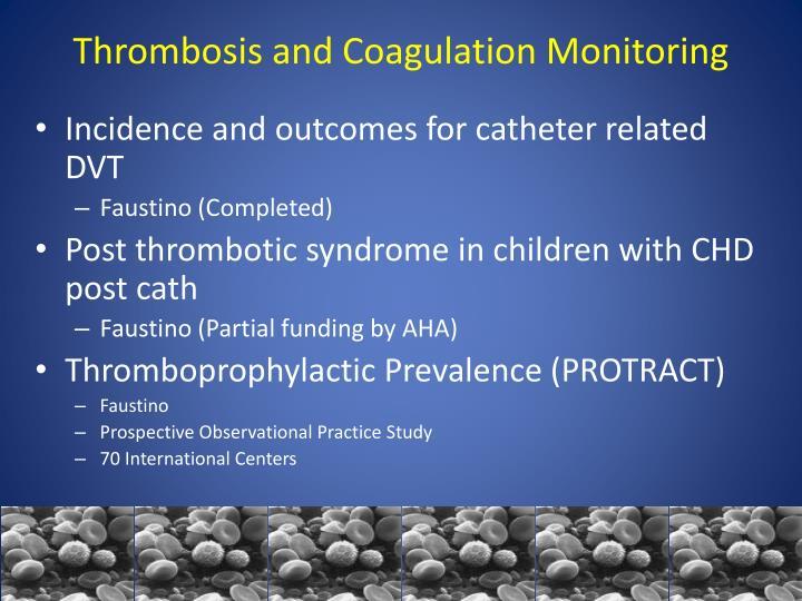 Thrombosis and Coagulation Monitoring