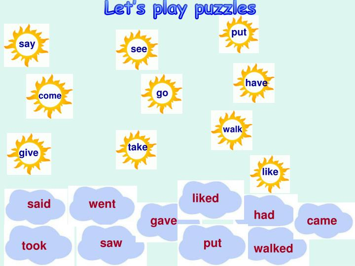 Let's play puzzles